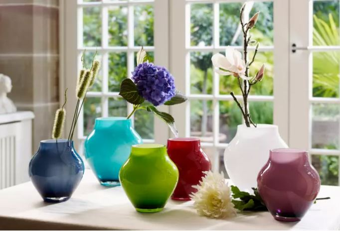 Prachtige, kleurrijke vazen