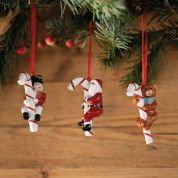Villeroy & Boch Christmas Nostalgic Ornaments 3-delig Santa, Teddy, Rocking Horse