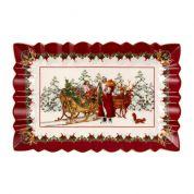 Villeroy & Boch Christmas Toy's Fantasy Taartschotel hoekig, Kerstman met slee