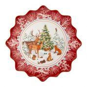 Villeroy & Boch Christmas Toy's Fantasy Gebakschaal 42 cm groot, bosdieren