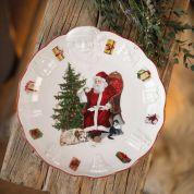 Villeroy & Boch Christmas Toy's Fantasy Schaal met kerstmanreliëf, 24x25x4,6cm