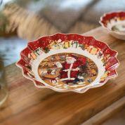 Villeroy & Boch Christmas Toy's Fantasy Schaal 25 cm - Santa leest verlanglijstje
