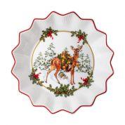 Villeroy & Boch Christmas Toy's Fantasy Schaal klein 16.5 cm, reeveulen met cadeaus