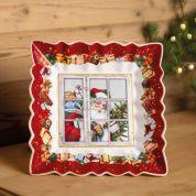 Villeroy & Boch Christmas Toy's Fantasy Schaal vierkant 23.5 cm - Santa