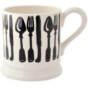 Emma Bridgewater Black Toast and Marmalade Beker 0.3 ltr Forks & Knives