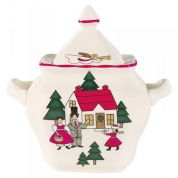 Wedgwood Christmas Village Suikerpot (made in England)