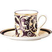 Wedgwood Cornucopia Espressokop 0.08 ltr BOND en schotel ( Uitlopend)