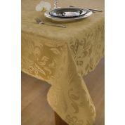 KOOK Tafelkleed 140x300 cm Damast Polyester - Goud