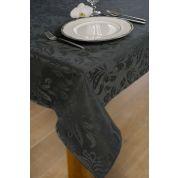 KOOK Tafelkleed 140x240 cm Damast Polyester - Donkergrijs