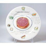 Gien Desserts Gourmands Bord 21.8 cm Tarte aux Cerises