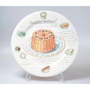 Gien Desserts Gourmands Bord 21.8 cm Charlotte Montreuil