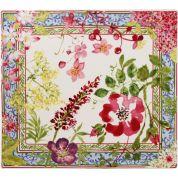 Gien Millefleurs Platte vierkante schaal 29.5x26.5 cm