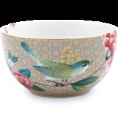 Pip Studio Blushing Birds Bowl 12 cm - khaki