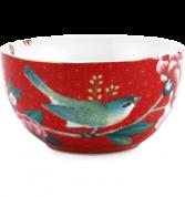 Pip Studio Blushing Birds Bowl 12 cm - rood
