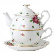 Royal Albert New Country Roses White Vintage Tea for One 0.49 ltr