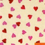Emma Bridgewater Servetten Servetten Pink Hearts 33 x 33 cm ( Set van 20 )