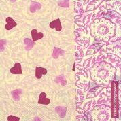 Emma Bridgewater Servetten Servetten Pink Hearts & Wallpaper 33 x 33 cm ( Set van 20 )
