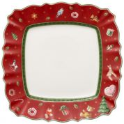 Villeroy & Boch Christmas Toy's Delight Ontbijtbord vierkant rood