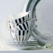 Wedgwood Jasper Conran Platinum Striped Theekop 0.23 ltr en schotel