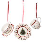 Villeroy & Boch Christmas Toy's Delight Decoration Ornamenten serviesset 6.3 cm, 3-delig