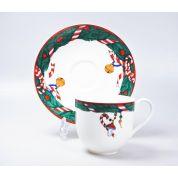 Villeroy & Boch Magic Christmas Espressokop en schotel