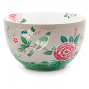 Pip Studio Blushing Birds Bowl 23 cm - khaki
