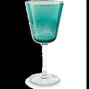 Pip Studio Blushing Birds Glas Wijnglas 0.25 ltr - groen