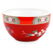 Pip Studio Blushing Birds Bowl 18 cm - rood