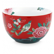 Pip Studio Blushing Birds Bowl 23 cm - rood