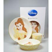Wedgwood Princess 3-delige set: Plat bord, diep bord en beker ( in geschenkverpakking )