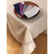 Tint Tint Tafelkleed Uni Ajour 170 x 300 cm - Galet Cobblestone