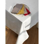 Tint Tint Tafelkleed Uni Ajour 150 x 250 cm - Snow
