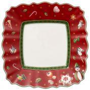 Villeroy & Boch Christmas Toy's Delight Gebaksbord vierkant rood