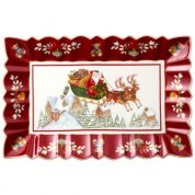 Villeroy & Boch Christmas Toy's Fantasy Cakeschaal 35x23x3.5 cm - Slede rijden