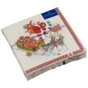 Villeroy & Boch Christmas Winter Specials Servetten Kerstman 33 x 33 cm