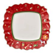 Villeroy & Boch Christmas Toy's Delight Dinerbord vierkant rood